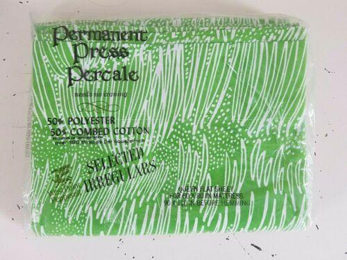 NOS Vintage MOD 1980/'s CINDI MUFSON West Point Pepperell QUEEN Flat Sheet ~ NEW