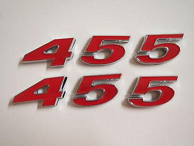 OLDSMOBILE 455 ENGINE ID FENDER HOOD SCOOP QUARTER TRUNK EMBLEMS NEW SET CHROME
