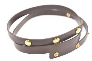 Auth-Louis-Vuitton-Leather-Shoulder-Strap-For-Damier-Florentine-Brown-LV-60729