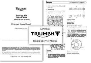 triumph daytona 955i speed triple workshop service shop manual 955 rh ebay ie triumph tr6 shop manual 1970 triumph bonneville shop manual