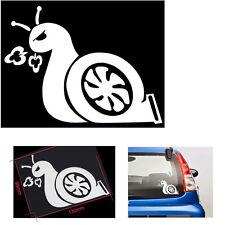 SUV Pickup Fenders Tank New Cover Tailgate Funny Turbo Snail Sticker Badge White