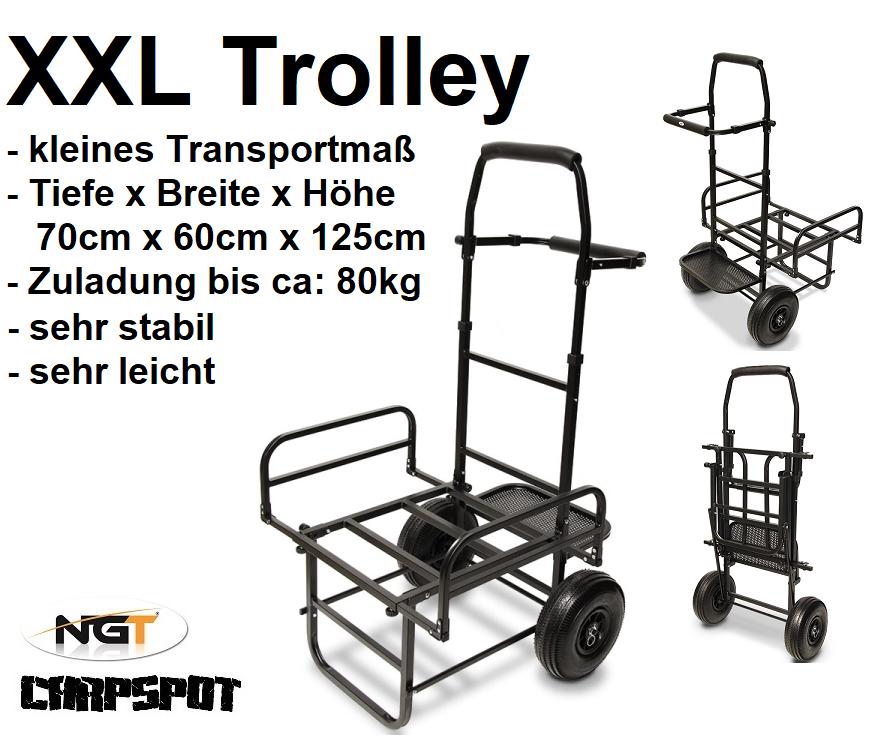 nuovo XXL Barrow Trolley autorello trasporto per autorytutti, autopa Lettino, Tackle NGT treno