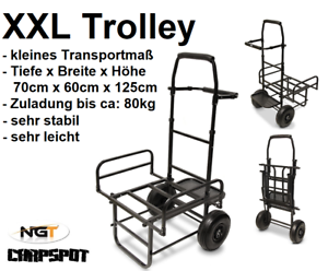 Neu Xxl Trolley Barrow Transportwagen Carp Karpfen Transportkarre Tackle Ngt Zug Angelsport