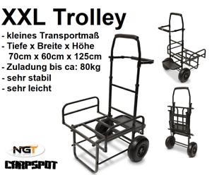 Tackle NGT ZUG Karpfenliege NEU XXL Trolley Barrow Transportwagen für Carryall