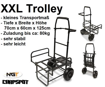 XXL Angel Trolley 2 Bags Karpfen Transportwagen Barrow Tacklekarre