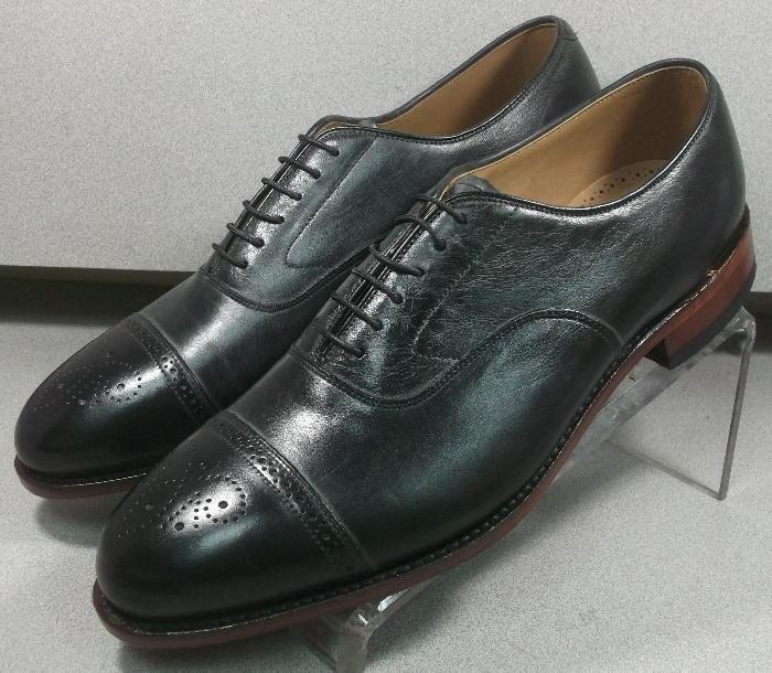 240941 ES50 para hombres zapatos talla 13 M Negro Cuero 1850 Colección Johnston Murphy