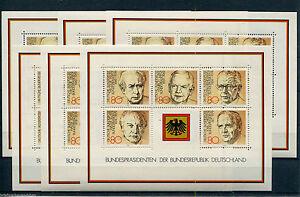 Bund-Block-18-postfrisch-6-Stueck-BRD-1156-1160-Bundespraesidenten-MNH