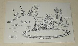Carte De Voeux 1969 De Loco Revue - Illustration De Cl. Buret