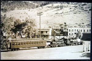IDAHO SPRINGS CO ~1930&#039;s Colorado &amp; Southern RR~OLD SMOKE &amp; CINDERS~SANBOR<wbr/>N RPPC