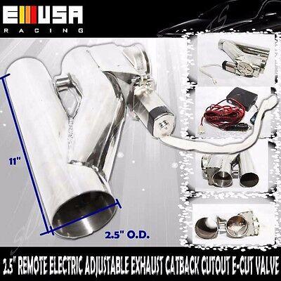 "Exhaust Catback CutOut E-Cut Valve 2.5/"" DIY Universal Remote Electric ADJ"