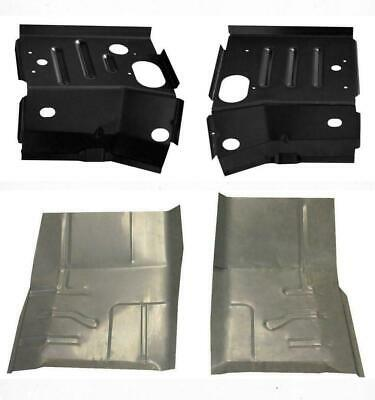 PAIR Front Cab Mount Floor Supports for 80-96 Ford F-Series Pickup Bronco