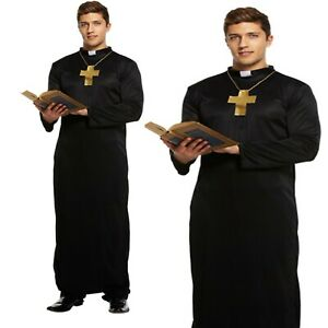 Adult Mens Vicar Fancy Dress Priest Church costume Stag night do party outfit