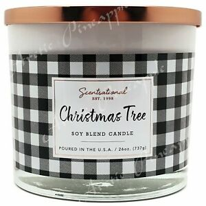 Scentsational-Soy-Blend-Wax-26oz-Cotton-3-Wick-Holiday-Candle-Christmas-Tree