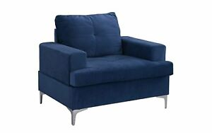 Modern Square Low Frame Velvet Arm Chair Living Room Accent Chair