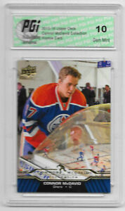 Connor-McDavid-2015-16-Upper-Deck-Collection-CM-6-Rookie-Card-PGI-10-Oilers