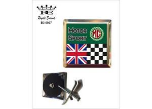 ROYALE CAR GRILL BADGE & FITTINGS - BRITISH MOTOR SPORT MG CARS - B3.0007