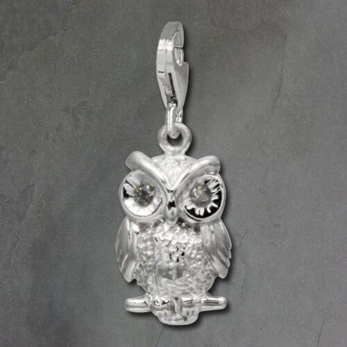 SilberDream Charm Eule 925 Echt Silber Armband Anhänger Zirkonia FC725W