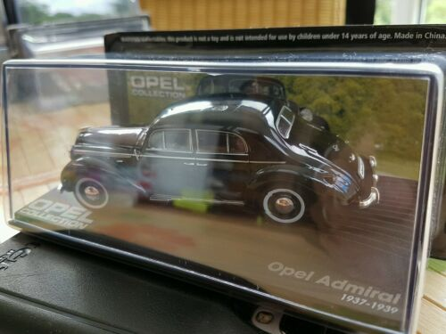 56 -in BOX 1937-1939 Opel Admiral schwarz 1//43- Opel Collection Nr