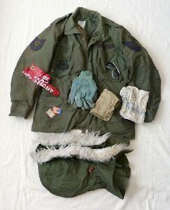 U-S-Air-Force-COLD-WEATHER-FIELD-COAT-OG-107-Liner-Hood-Pocket-Contents-1983