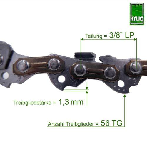 Set 5 Stück Profi C Sägekette 3//8P 1.3 mm 56 TG 40 Führungsschiene Typ 03