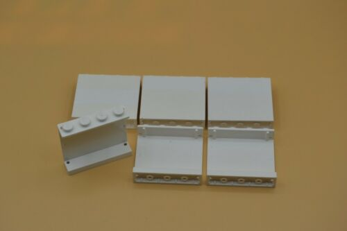 LEGO 6 x Paneele 1x4x3 Noppe geschlossen weiß white panel solid studs 4215a