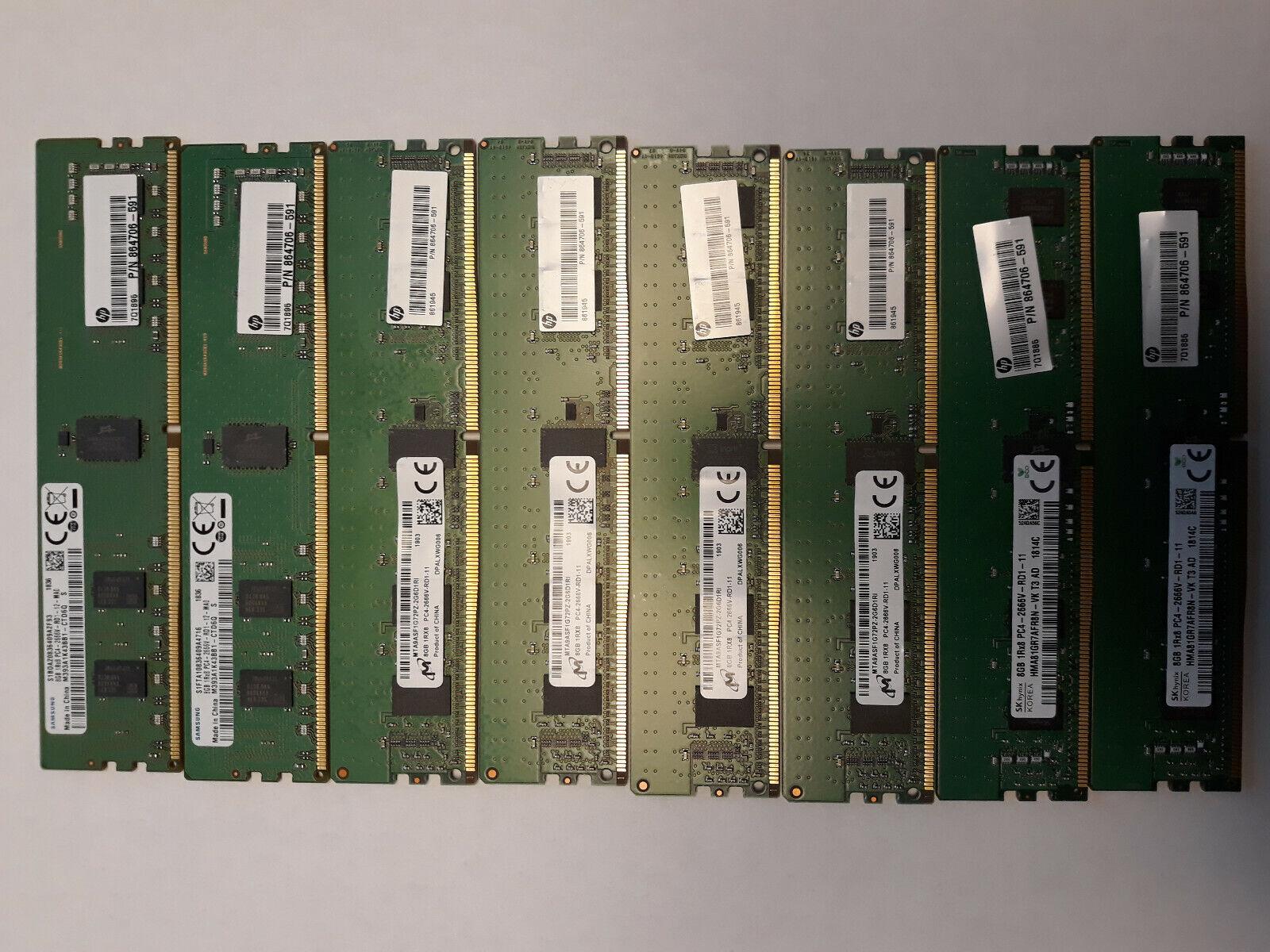 DDR4 PC4-21300 2666Mhz ECC Registered RDIMM 1Rx8 A-Tech 8GB Module for HP ProLiant DL60 Gen9 G9 Server Specific Memory Ram AT322629SRV-X1R5