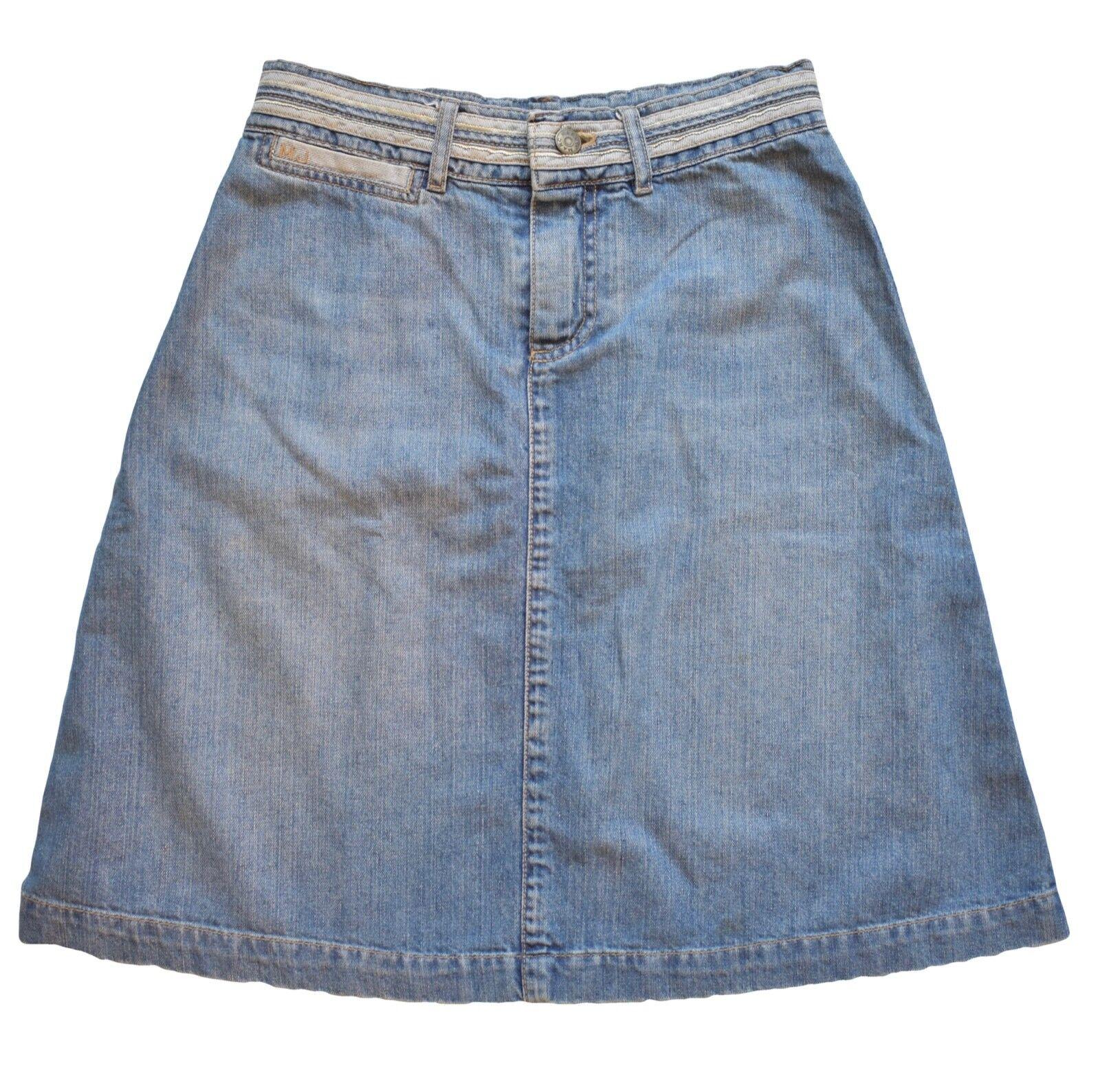Marc Jacobs Denim Jean Skirt Size 2 Medium Wash A-Line Knee Length