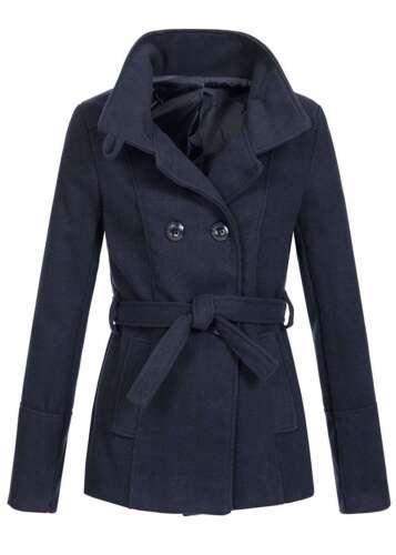 50/% off b16117079 Donna Violet Giacca in pile collo alla coreana bottone serie cintura blu