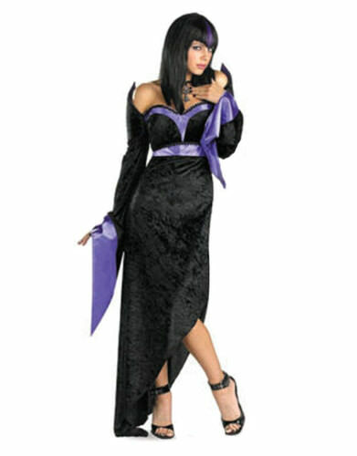 GORGEOUS GOTH SEXY & SULTRY WOMENS FANCY DRESS 10-12 527T