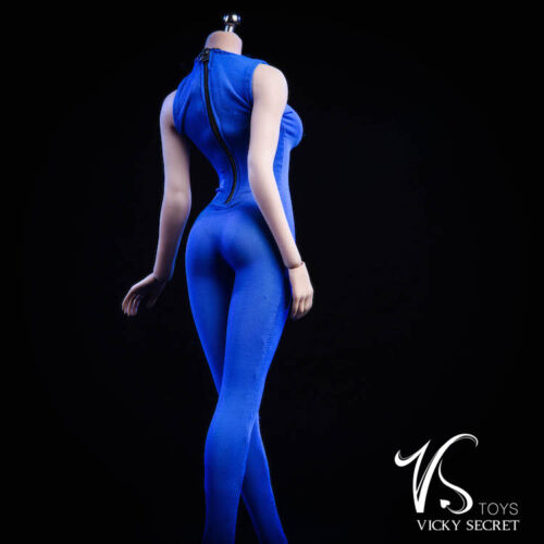 "1//6 Female Slim Stretch Bodysuit Blue For 12/"" PHICEN TBLeague Figure Body ❶USA❶"