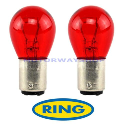 2 x PR21//5w 12v Brake Stop /& Tail Light Bulbs Pair Red R780 780 BAW15D Ring Ford