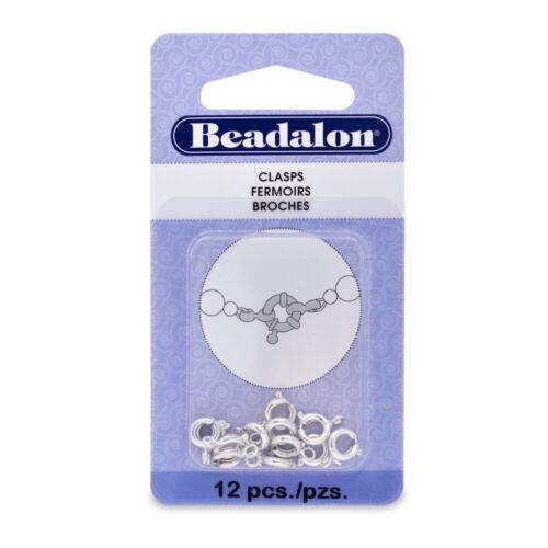 Beadalon ® Primavera Anillo Redondo Broches hallazgos Elige Color Y Talla