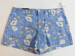 "NWT Gap Women/'s Navy Floral Khaki 5/"" City Shorts 0 2 4 8 New Free Shipping"