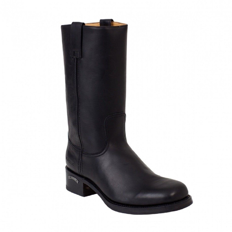 incredibili sconti Sendra 3162 Cowboy Stivali neri neri neri in pelle Western Biker realizzata a mano unisex  tutti i prodotti ottengono fino al 34% di sconto