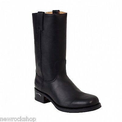 d9e2f8b8f Details about Sendra 3162 Cowboy Boots Black Leather Western Biker Handmade  Unisex