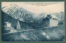 Valle d'Aosta. PICCOLO S. BERNARDO. L'Hotel de Lancebranlette. Viaggiata 1919
