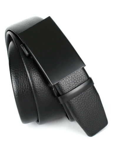 MINYUOCOM PD33 Series Men/'s Luxury Automatic Buckle Black Genuine Leather Belt