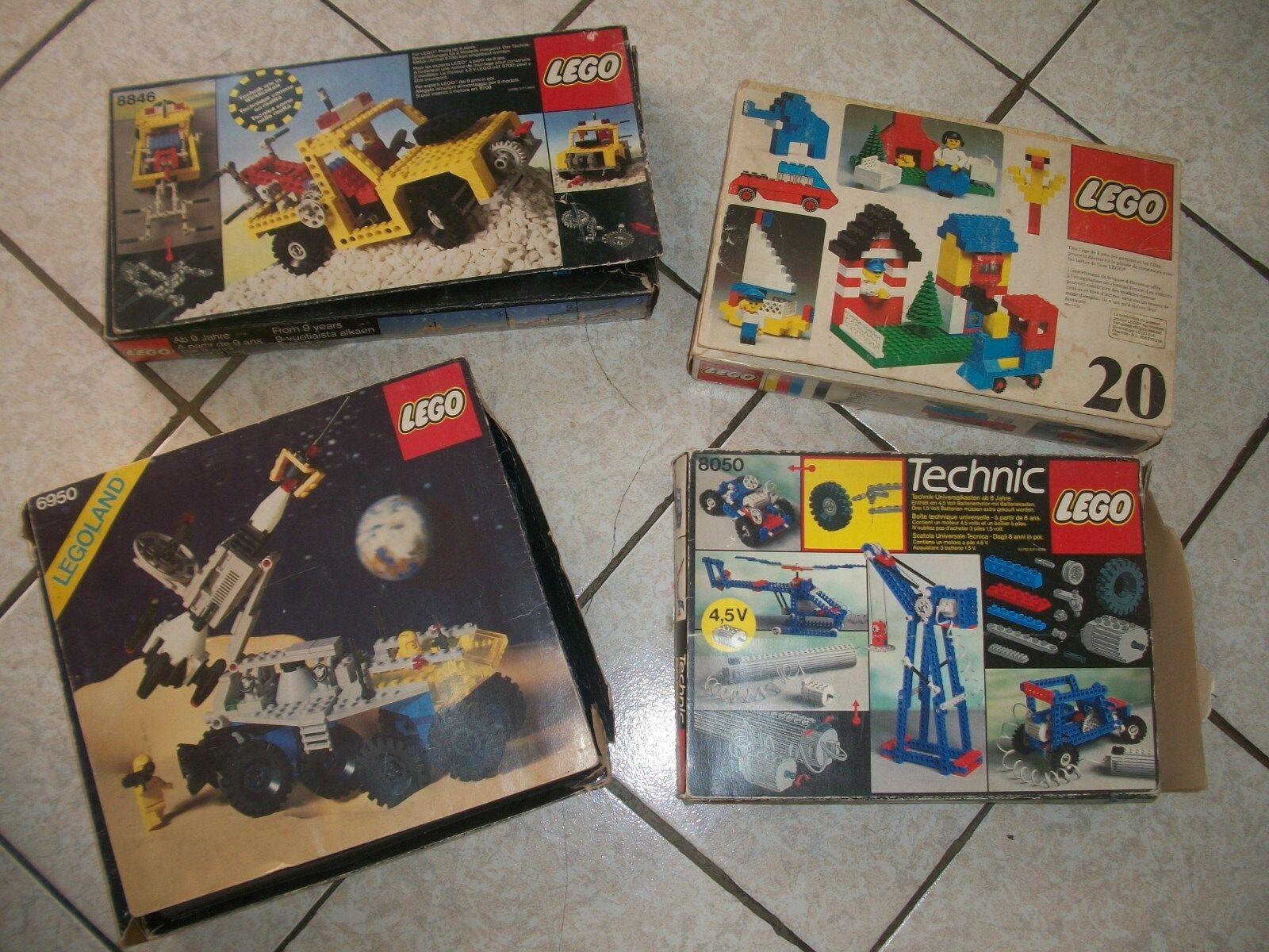 LEGO LOTTO VINTAGE 6950..8846..8050--ANNI 70 80