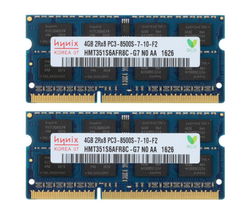 For Hynix 8GB 2X 4GB 2Rx8 DDR3 1066Mhz PC3-8500S SO-DIMM Laptop Memory Intel @KS