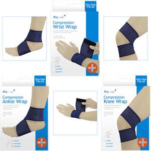 1 Proplast Compression Knee Wrap Elasticated Bandage Knee Support Pack