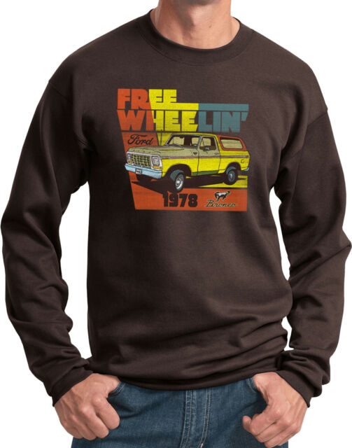1980s 90s American Classic Bronco Lifted Truck Hoodie for Men