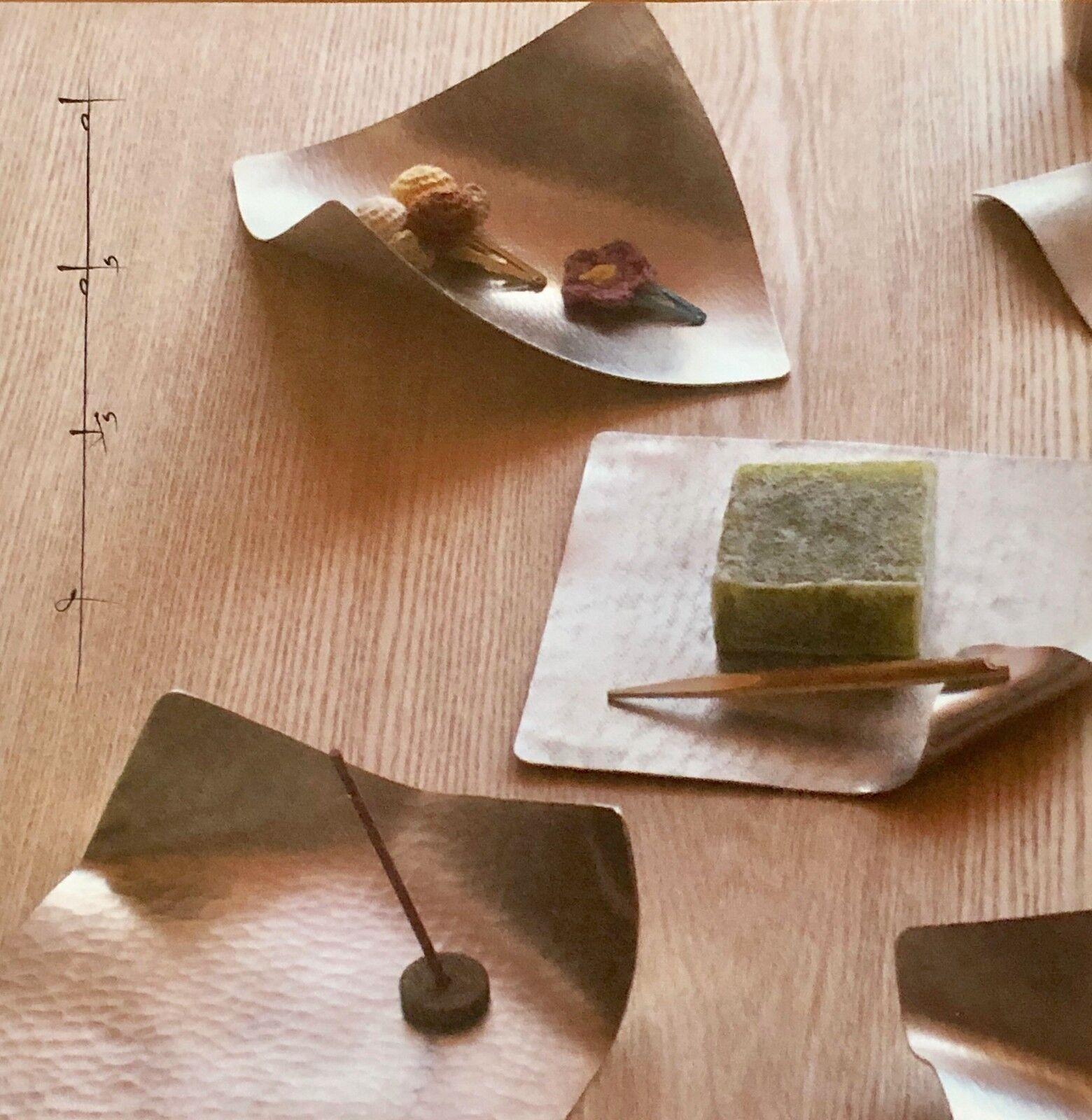 Japanese Fine Flexible Tin Plate Bendable Dish ARARE Handmade in Japan Gift  M
