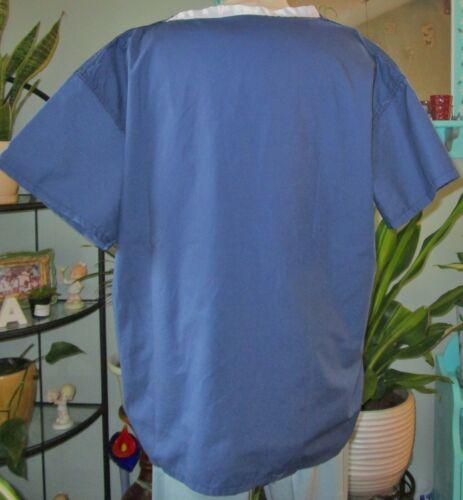 Details about  /Best Medical Unisex Reversible Scrub Top W// Pocket Navy Blue Large