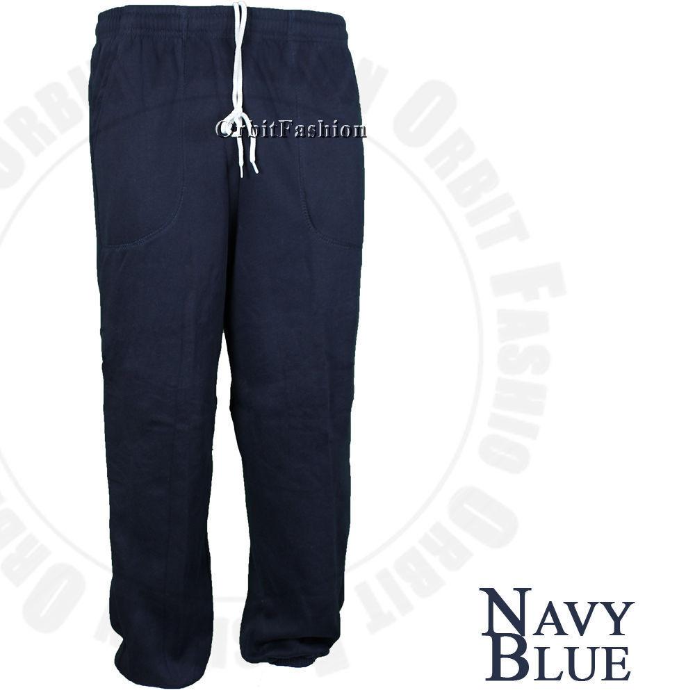 5b68a93d04a7 Mens Plain Fleece Jogger Drawstring Sweat Pants Active Elastic Pants Men  Women
