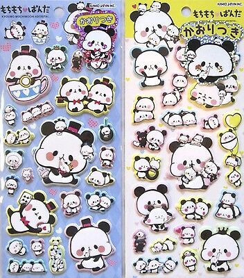 Kamio Mochi Panda Puffy Stickers