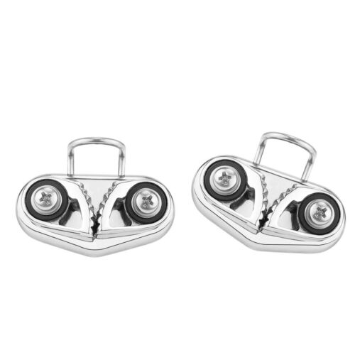 2x Stainless 316 Tough Cam Cleat with Leading Ring Marine Sailing Sailboat