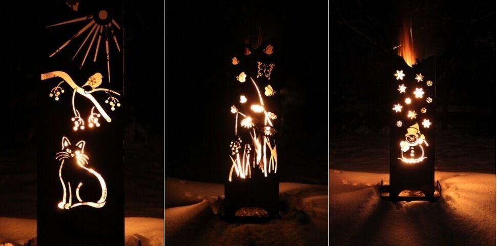 Ramster Feuersäule  Vier Jahreszeiten , Feuerkorb, Feuerstelle, Terrasse, Garten