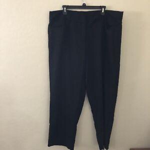 2adfa5aca4e Just My Size Women s Dress Pants SZ 22W Petite Black Career Flat ...