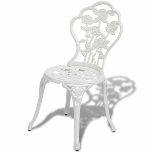 vidaXL Bistro Chairs 2 pcs Cast Aluminium White