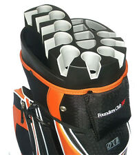 Founders Club Premium Cart Bag with 14 Way Organizer Top - Orange